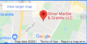 silver marble granite map logo